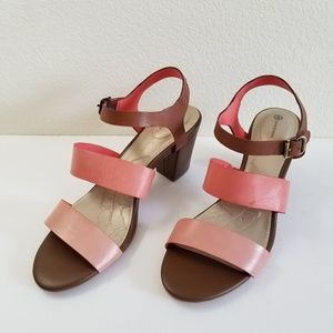 Giani Bernini Multicolor Leather Sandals Sz 10